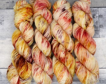Courage - (Sparkle Sock, variegated) - speckled crimson, gold, and brown