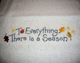 To Everything There Is A Season Table Runner-Fall-Autumn-Osnaburg Cotton Table Runner