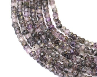 3x4mm Faceted Rondelle Super 7 Multi Stone Quartz aka Sacred Seven and Melody's Stone Bead for Spiritual Healing and Mala Jewellery 105 bead