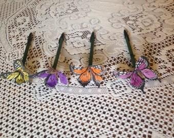 5 Butterfly Pens