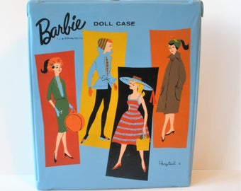 1959 Barbie Ponytail Doll Case / Well Cared for Case / with Extras