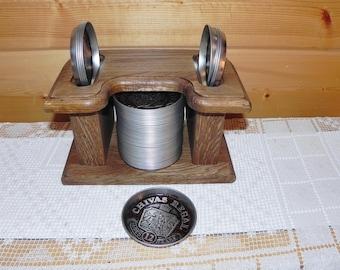 Chivas Regal Coaster Set - 48 Coasters With Wood Holder
