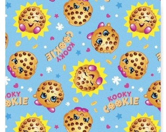 Kooky Cookie Shopkins Cotton Fabric By the Yard