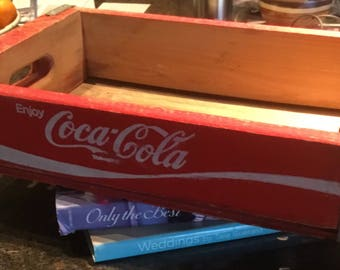 Vintage Wood Coca Cola  Box Crate
