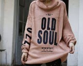 Wide Knitted Brown Top OLD SOUL