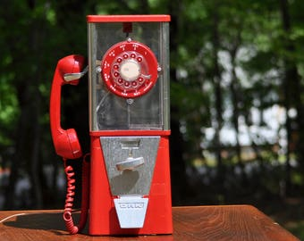 Gum Ball Machine Phone Paul Nelson Industries Decorator Phone Bubble Gum Machine Vintage Phone Bubble Gum Machine Phone Novelty Phone
