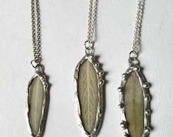 Sage leaf necklace | Leaf pendant | Nature jewelry | Herb necklace | Protection jewelry | Healing necklace | Sage Jewelry | Leaf necklace