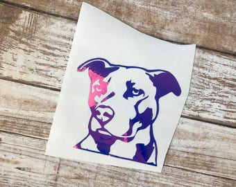 Pitbull Dog Animal Vinyl Decal Car Laptop Wine Glass Sticker