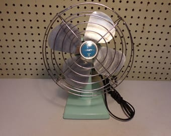 "Vintage 8"" Turquoise Blue ESKIMO Electric Bullet Fan Model 081005"