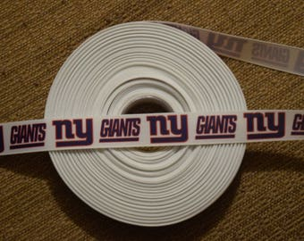 "New York Giants 7/8"" Grosgrain Ribbon"