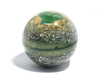 Mini Aventurine Orgone Sphere - Meditation Ball - Energy Healing Spiritual Gift - Feng Shui Decor