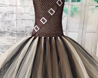Chewbacca tutu, Chewbacca costume, Chewbacca flower girl dress, Star Wars flower girl dress, Chewbacca tutu dress, Chewbacca dress,