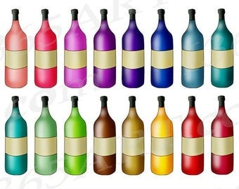50% OFF Wine Bottle Clipart, Wine Clip art, Vineyard, Alcohol Clipart, Winery, Wine Bottle Icons, Planners, liquor, PNG, Commercial