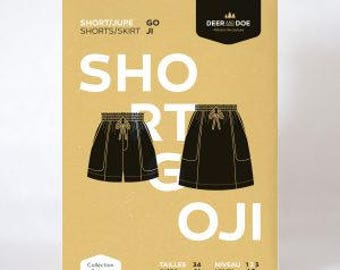 Goji Shorts and Skirt- Deer and Doe Patterns
