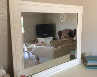 Romantic Shabby Chic Floral Carved Wall Mirror, No Shipping Pick-Up Only!!