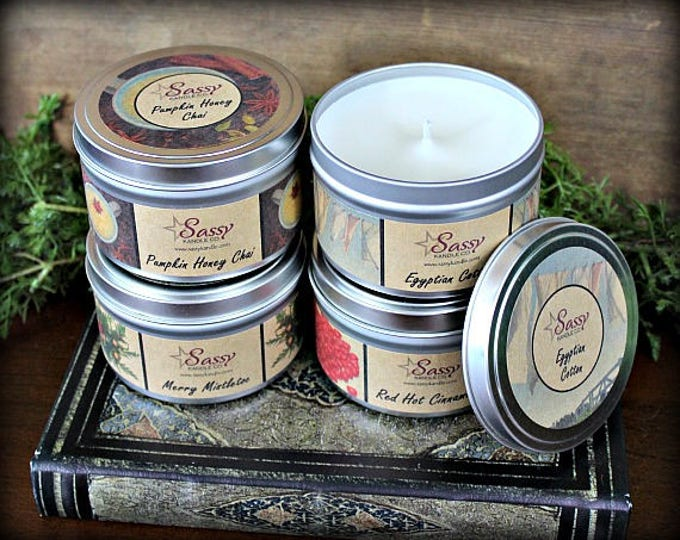Pick 4 | 8 oz CANDLE TINS | Sassy Kandle Co.