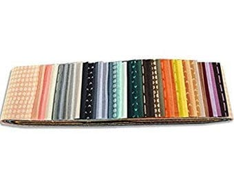 Me + You Indah Pops Plain Bali Pop 40 2.5-inch Strips Jelly Roll Hoffman Fabrics FREE SHIPPING in the US