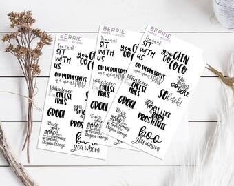 Mean Girls Quotes Planner Stickers ECLP Happy Planner KikkiK Filofax