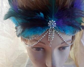 Purple and Aqua Mermaid crown
