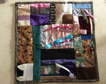 Fidget Quilt / Sensory Blanket - Cat's Meow