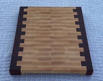 End Grain Cutting Board - Maple and Padauk