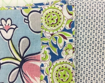 55 - 5 inch Feedsack and Vintage Quilt Squares