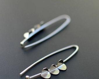 Sterling Silver Earrings- Queen of Hearts