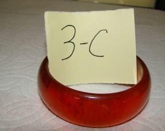 BB #3-C Carved Vintage Bakelite  Bracelet