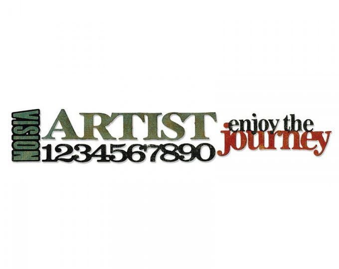 Sizzix Tim Holtz Alterations Decorative Strip Die - Stacked Artful Words 658552
