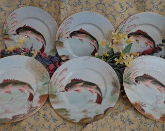 cool silesia plates fish pattern set of antique plates salad plates appetizer plates antique with dinnerware with fish designs. & Dinnerware With Fish Designs. Free Italy Gourmet Bluewhite Salad ...