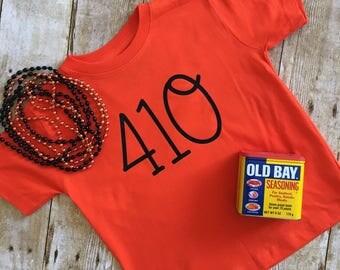 Baltimore Orioles 410 - Baby Bodysuit, Baby T-Shirt, Toddler T-Shirt