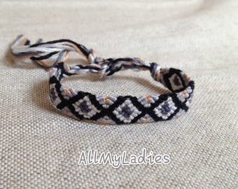 Grey black white Friendship Bracelet (No F2)