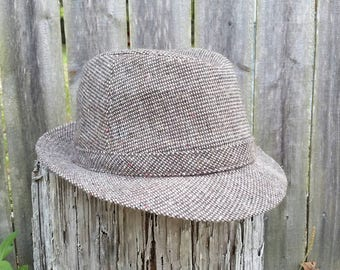 Vintage Brown Tweed Young An YA Fedora
