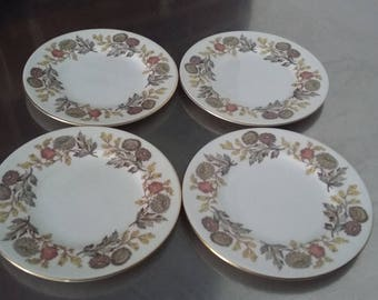 4 four Wedgwood Lichfield Side Tea Plates 153 mm