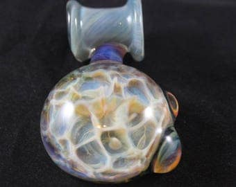 Honeycomb Pendant - A Beautiful Glass Pendant - Lightweight Necklace Charm - Glass Bead Bail