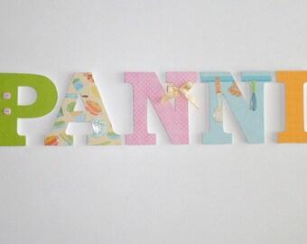 Name - Wood - PANNI name letter - wood - PANNI letter