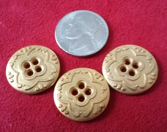 3 Beautiful Gold-colored Buttons