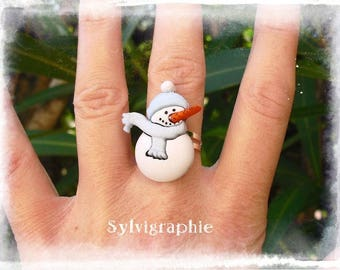 Snowman snow ring