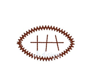 Mini football embroidery design, Vintage stitch football, Football embroidery file, Bean stitch football, Football design, Vintage football