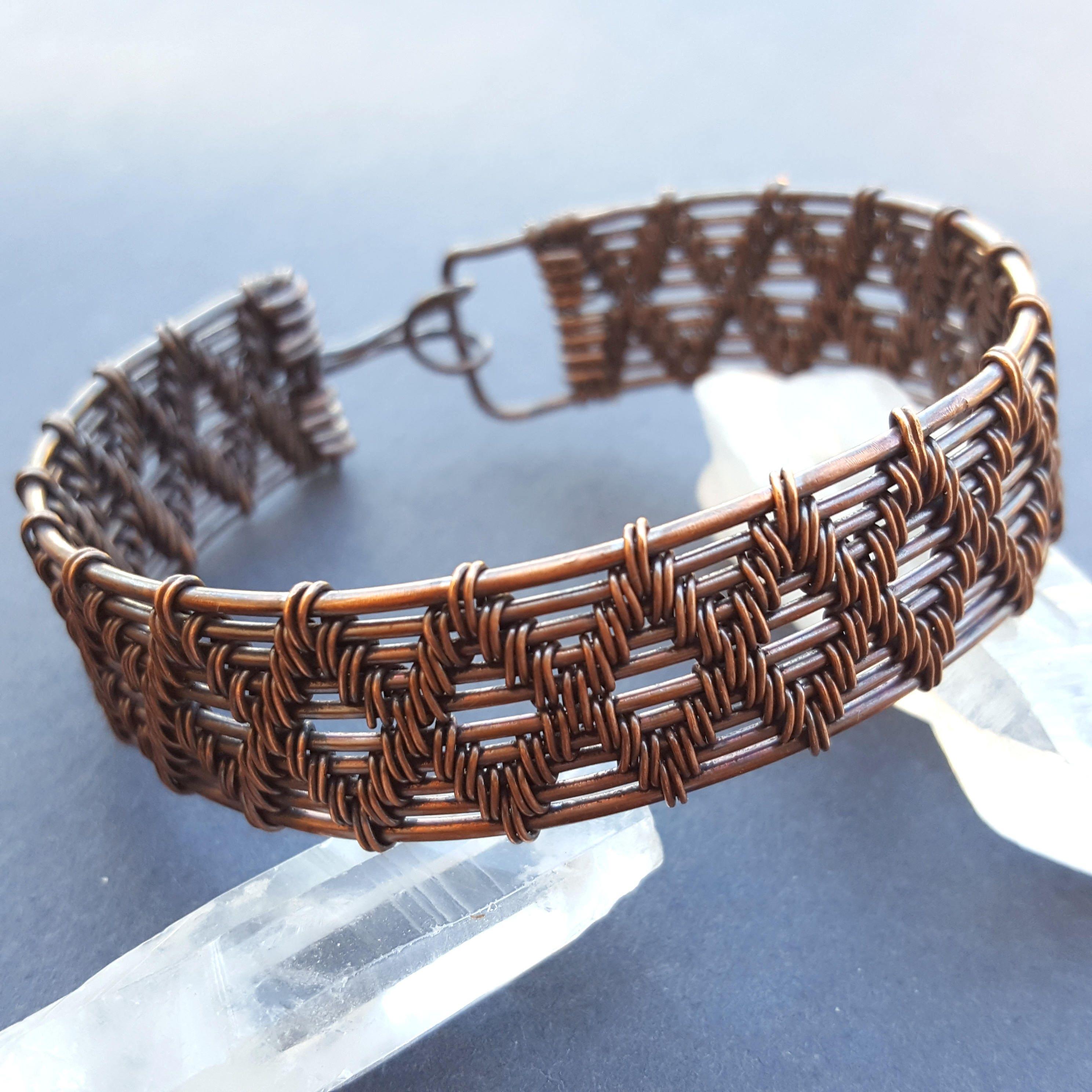 Large Copper Bracelet, Wire Wrapped Bracelet, Copper Wire Bracelets ...