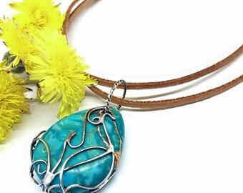 Jasper-Azure coast, Sterling Silver, handmade, Silver Jewelery