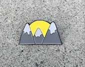 Enamel Pin // Cat Pin //  Mountain // lapel pin