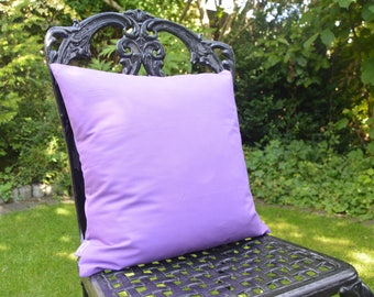 "Handmade 16""x16"" Cotton Cushion Accent Pillow Cover in Plain Crocus Mauve"