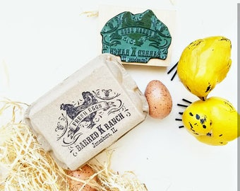 Egg Stamp, Chicken Stamp Vintage, Egg Carton Rubber Stamp. Chicken Fresh Eggs, Old-fashioned Egg Carton Labels,  Chicken Stamp CS-10309