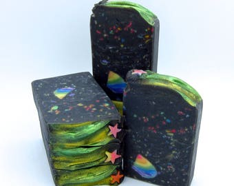 Shooting Star charcoal soap