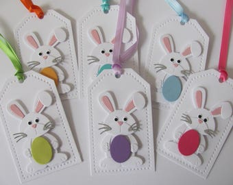 Easter tags etsy easter bunny tags easter favor tags easter gift tags easter bunny tag negle Images