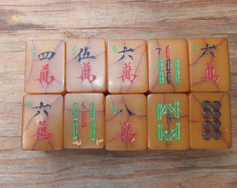 Bakalite Mahjong Tiles - bright colorful