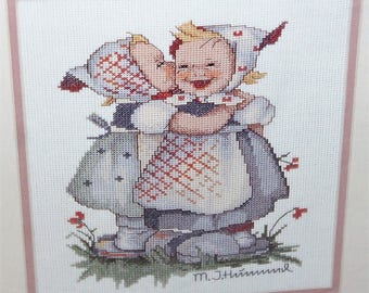 JCA Needle Treasures Hummel kit 02610 Telling Her Secrets counted cross stitch New
