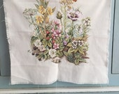 Handmade Large Cross Stitch Wild Flowers Butterfly Embroidery Garden Decor Ready to Frame