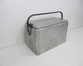 Vintage Cooler, Ice Chest, Therma Chest, Picnic Cooler, Beverage Cooler, Pop Cooler,Aluminum Pop Cooler